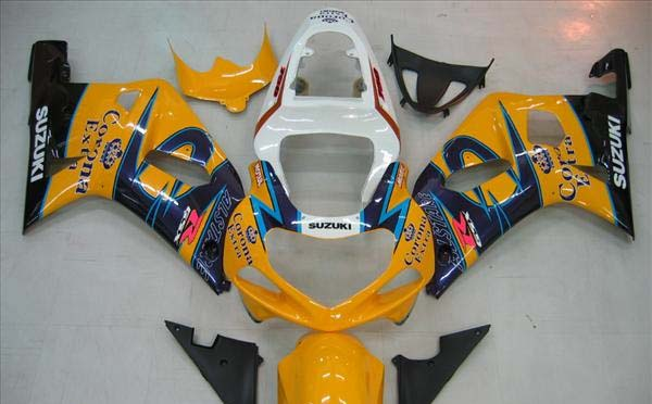Yellow Corona Fairing Set 9pc - Suzuki GSXR 600 2001-2003