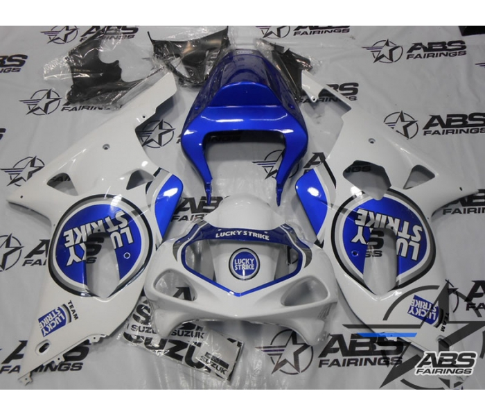 ABS FAirings Blue Lucky Strike Edition - 01-03' GSXR 600/750