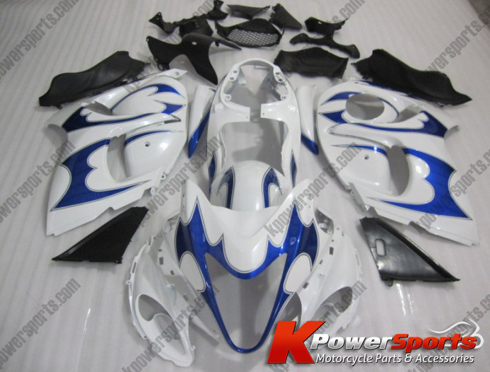 White & Blue ABS 24pc Fairing Set - Suzuki GSXR 1300 2008-2013