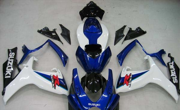 Blue/White Fairing Set 23pc - Suzuki GSXR 600/750 2006-2007