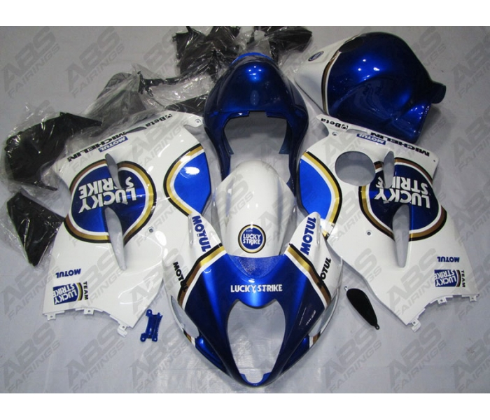 ABS Fairings Blue Lucky Strike - 99-07' Hayabusa GSXR1300