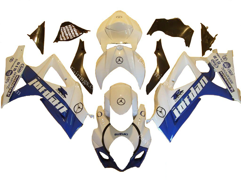 Blue Jordan Fairing Set 24pc - Suzuki GSXR 1000 2007-2008