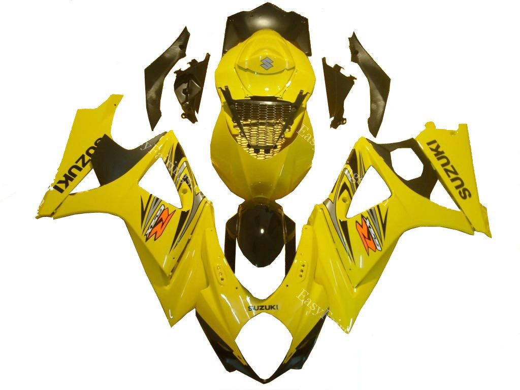 Yellow Fairing Set 24pc - Suzuki GSXR 1000 2007-2008