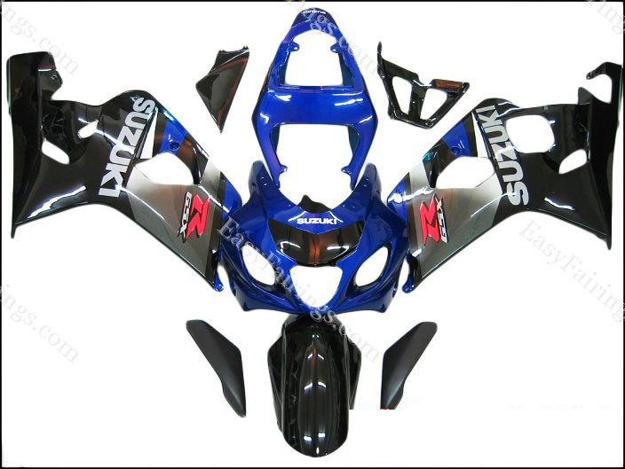 Blue/Black/Gunmetal Fairing Set 10pc - Suzuki GSXR 600/750 2004-2005