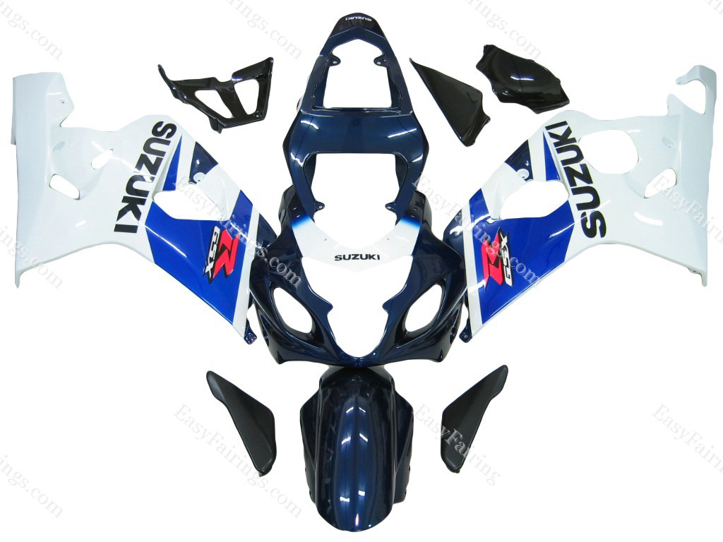 Navy/White Fairing Set 10pc - Suzuki GSXR 600/750 2004-2005