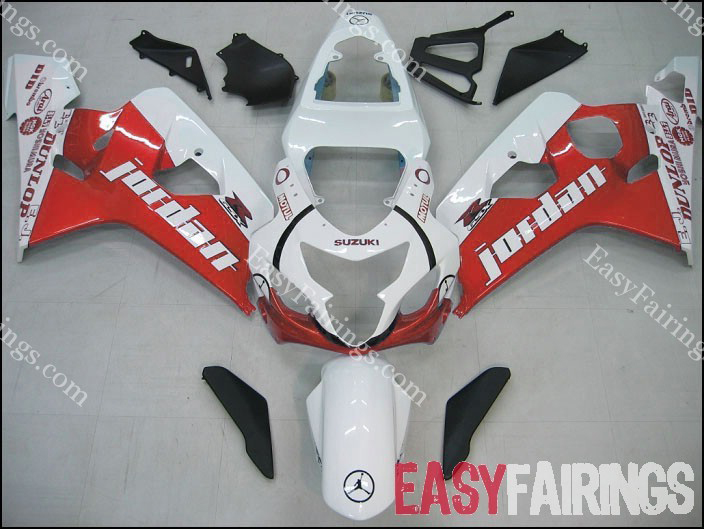 Red Jordan Fairing Set 10pc - Suzuki GSXR 600/750 2004-2005