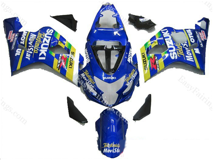Movistar Fairing Set 10pc - Suzuki GSXR 600/750 2004-2005