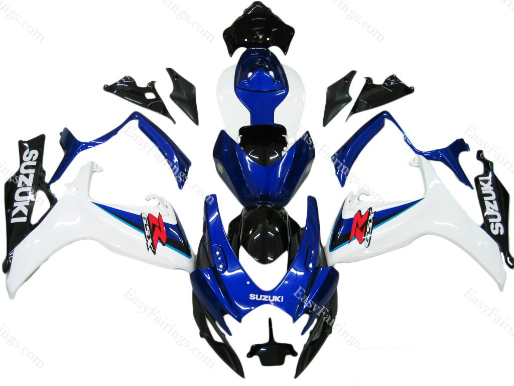 White/Blue Fairing Set 23pc - Suzuki GSXR 600/750 2006-2007