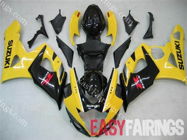 Yellow/Black Fairing Set 23pc - Suzuki GSXR 600/750 2006-2007