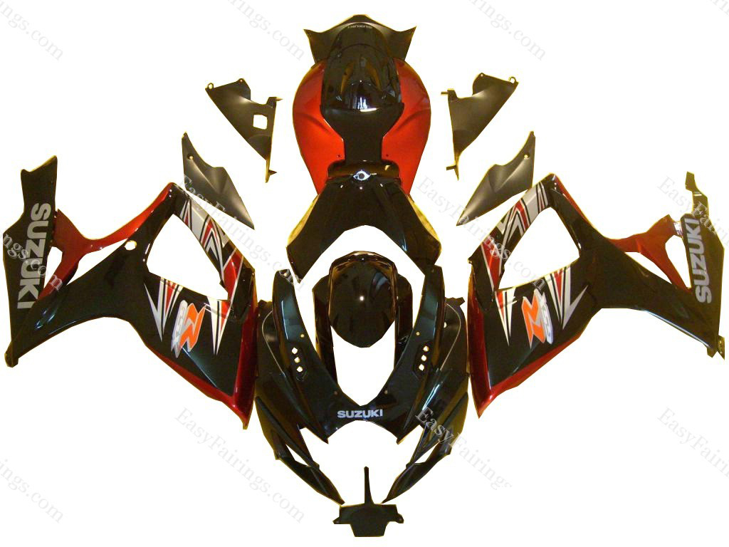 Dark Red/Black Fairing Set 23pc - Suzuki GSXR 600/750 2006-2007