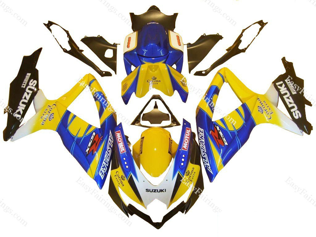Yellow Corona Fairing Set 29pc - Suzuki GSXR 600/750 2008-2009