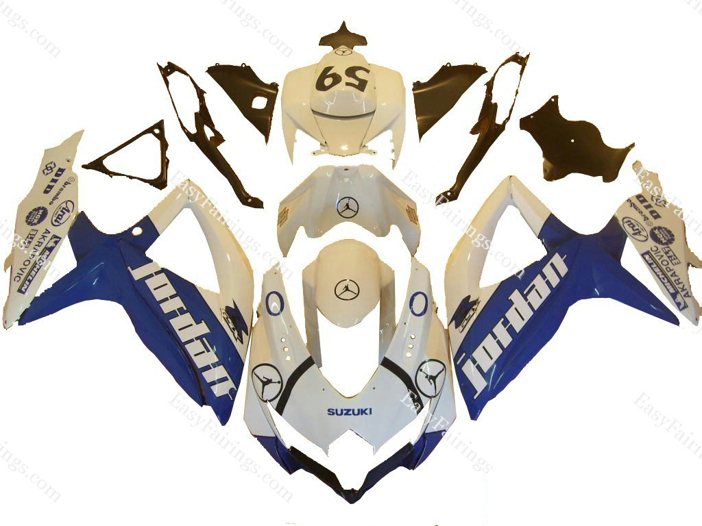 Blue Jordan Fairing Set 29pc - Suzuki GSXR 600/750 2008-2009