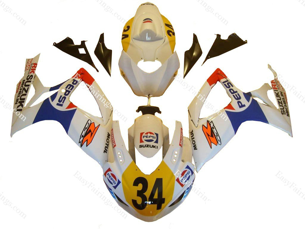Pepsi Fairing Set 29pc - Suzuki GSXR 600/750 2008-2009