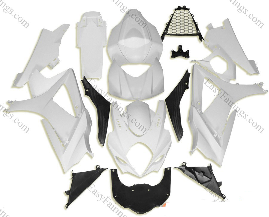 Unpainted ABS Fairing Set 24pc - Suzuki GSXR 1000 2007-2008