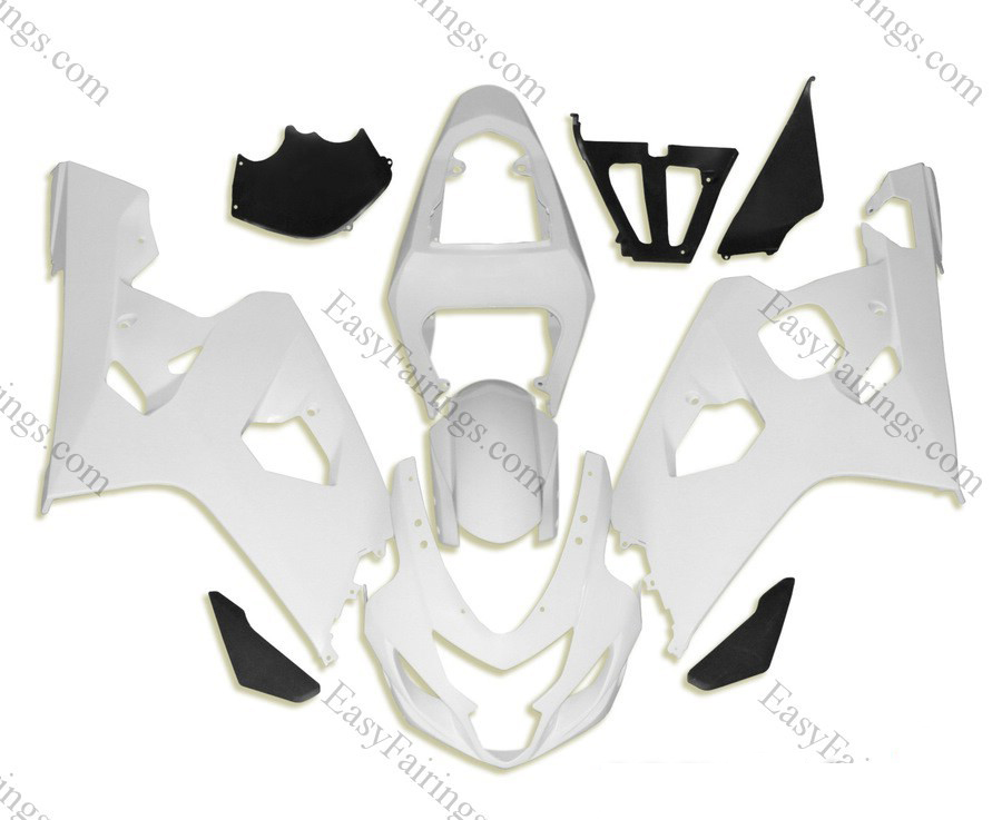 Unpainted ABS Fairing Set 10pc - Suzuki GSXR 600/750 2004-2005