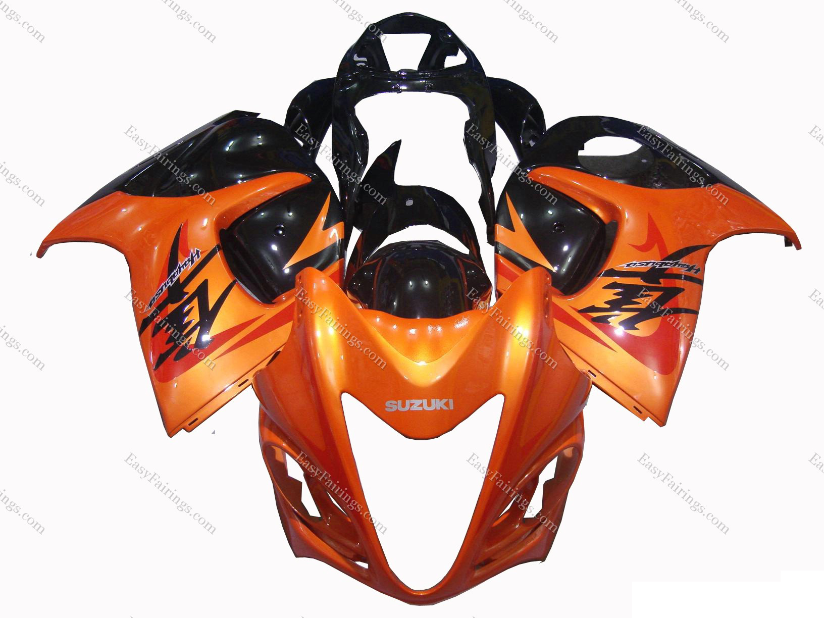 Metallic Orange/Black Fairing Set 24pc - Suzuki GSXR 1300 Hayabusa 2008-2012