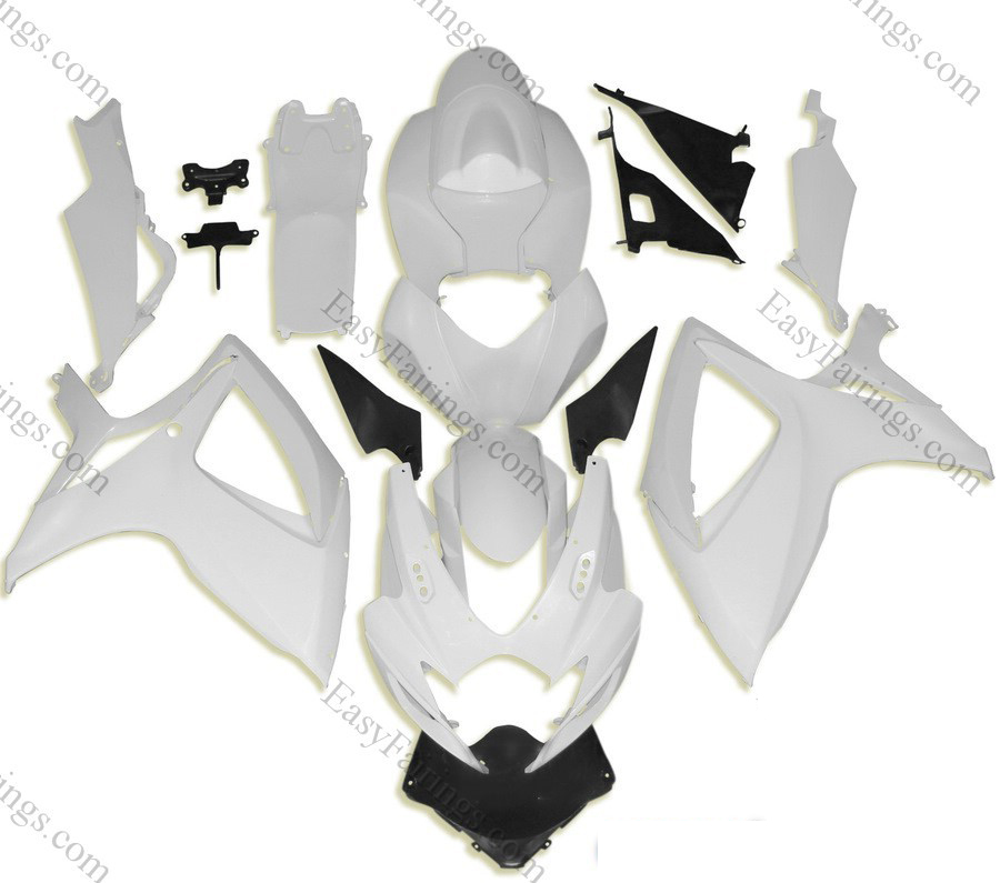 Unpainted ABS Fairing Set 23pc - Suzuki GSXR 600/750 2006-2007