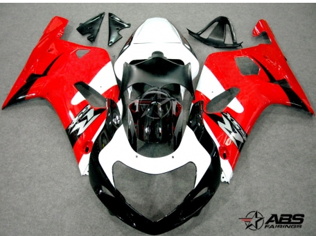 ABS Fairings OEM Style Red & White 9pc Fairing Set - Suzuki GSXR 600/750 2000-2003