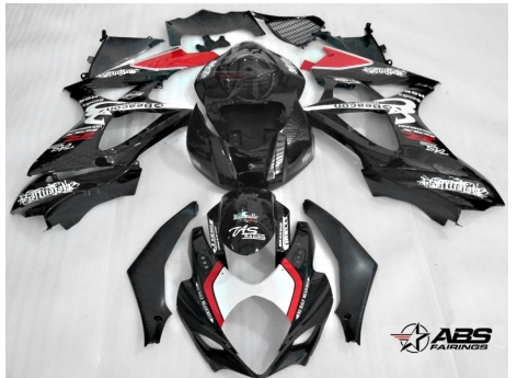 ABS Fairings Relentless 25pc Fairing Set - Suzuki GSXR1000 2007-2008