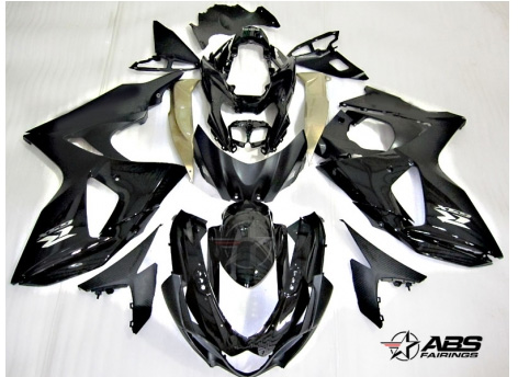 ABS Fairings Black & Gold 30pc Fairing Set - Suzuki GSXR1000 2009-2013