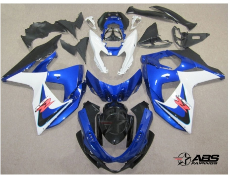 ABS Fairings OEM Style Blue & White 30pc Fairing Set - Suzuki GSXR1000 2009-2013