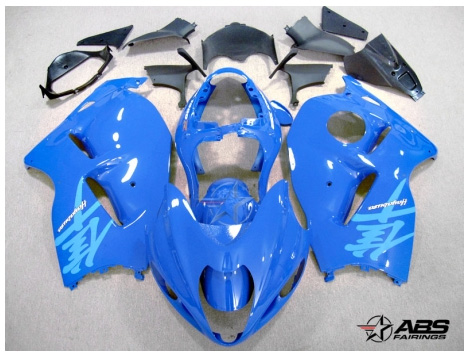 All Blue ABS 19pc Fairing Set - Suzuki Hayabusa 1300RR 1997-2007