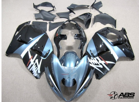 ABS Fairings Black & Baby Blue 19pc Fairing Set - Suzuki Hayabusa 1300RR 1997-2007