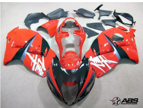ABS Fairings Red & Black 19pc Fairing Set - Suzuki Hayabusa 1300RR 1997-2007