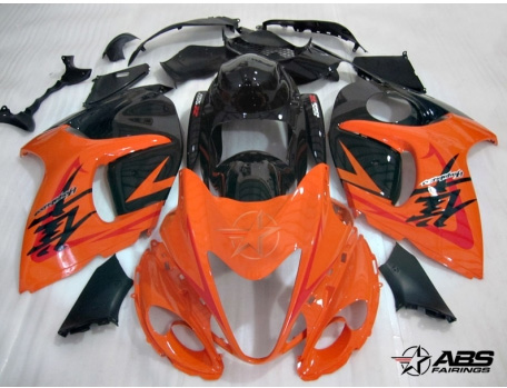 ABS Fairings OEM Style Orange & Black 28pc Fairing Set - Suzuki Hayabusa 1300RR 2008-2009