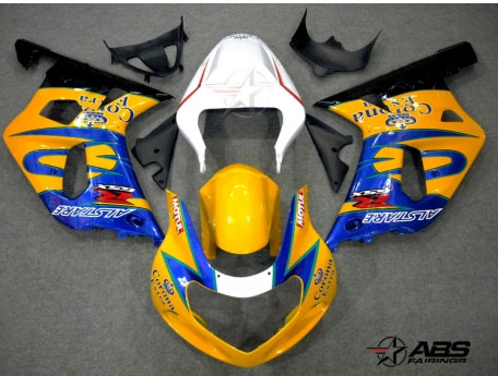 ABS Fairings Yellow Corona Extra 9pc Fairing Set - Suzuki GSXR 600/750 2000-2003