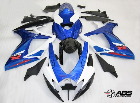 ABS Fairings OEM Style Blue 24pc Fairing Set - Suzuki GSXR 600/750 2006-2007