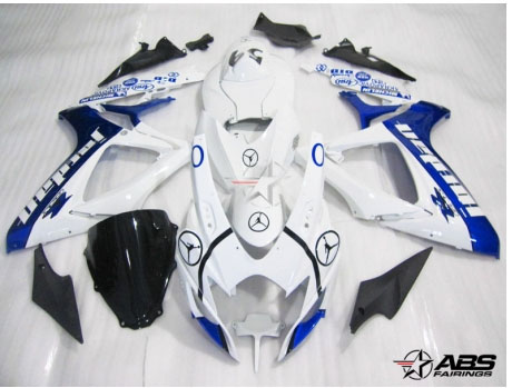 ABS Fairings Blue Jordan 24pc Fairing Set - Suzuki GSXR 600/750 2006-2007