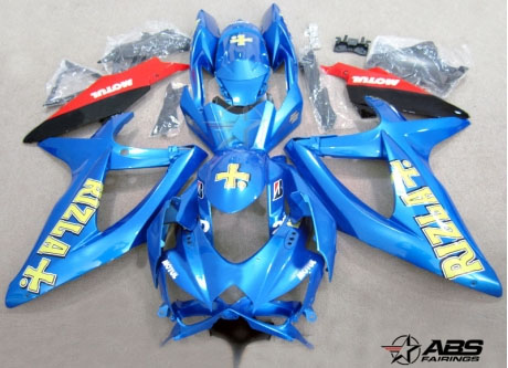 ABS Fairings Classic Rizla 24pc Fairing Set - Suzuki GSXR 600/750 2006-2007