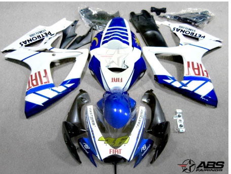 ABS Fairings Fiat Racing 24pc Fairing Set - Suzuki GSXR 600/750 2006-2007