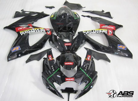 ABS Fairings Hesterfield Racing 24pc Fairing Set - Suzuki GSXR 600/750 2006-2007
