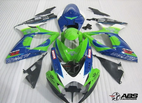 ABS Fairings Lime Green Corona Extr 24pc Fairing Set - Suzuki GSXR 600/750 2006-2007