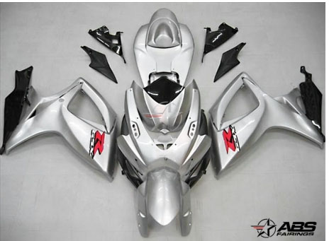 ABS Fairings OEM Style Silver 24pc Fairing Set - Suzuki GSXR 600/750 2006-2007