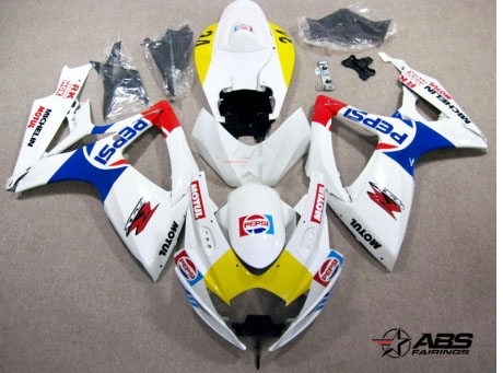 ABS Fairings Pepsi Racing 24pc Fairing Set - Suzuki GSXR 600/750 2006-2007