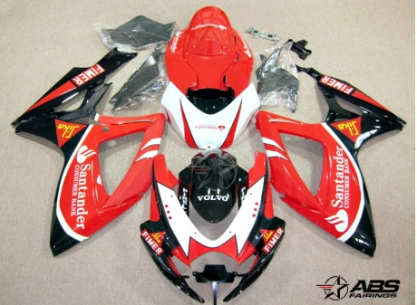 ABS Fairings Santander Racing 24pc Fairing Set - Suzuki GSXR 600/750 2006-2007