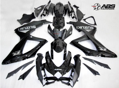 ABS Fairings OEM Style Black 30pc Fairing Set - Suzuki GSXR 600/750 2008-2010