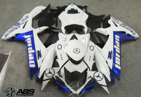 ABS Fairings Blue Jordan 26pc Fairing Set - Suzuki GSXR 600/750 2011-2012