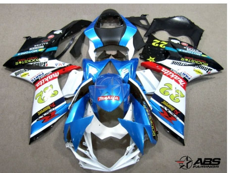 ABS Fairings Rockstar Makita 26pc Fairing Set - Suzuki GSXR 600/750 2011-2012
