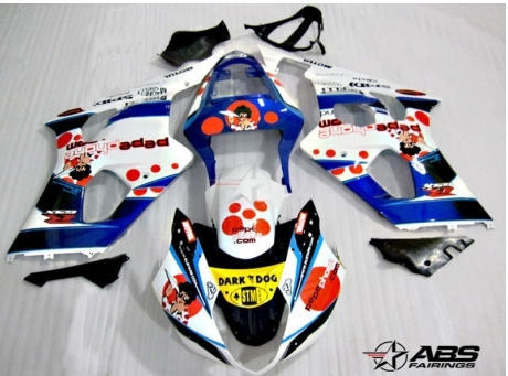 ABS Fairings Pepe Racing 9pc Fairing Set - Suzuki GSXR1000 2003-2004