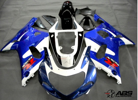 ABS Fairings OEM Style Blue & White 9pc Fairing Set - Suzuki GSXR 600/750 2000-2003
