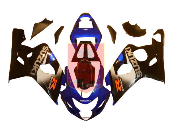 Blue/Grey/Black ABS Fairing Set 10pc - Suzuki GSXR600/750 2004-2005
