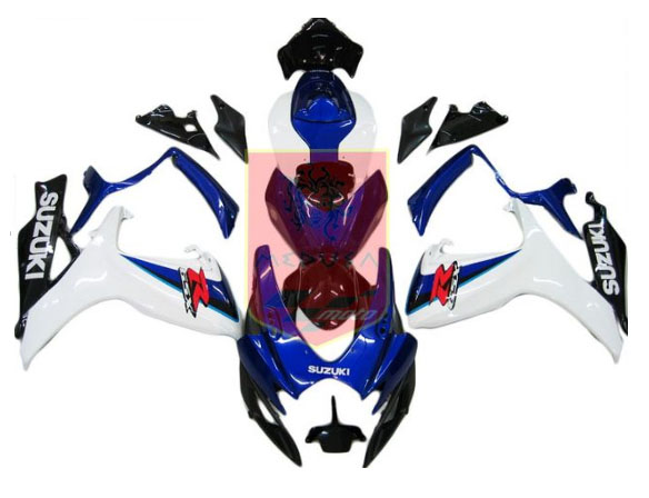 Blue/White/Black ABS Fairing Set 23pc - Suzuki GSXR600/750 2006-2007