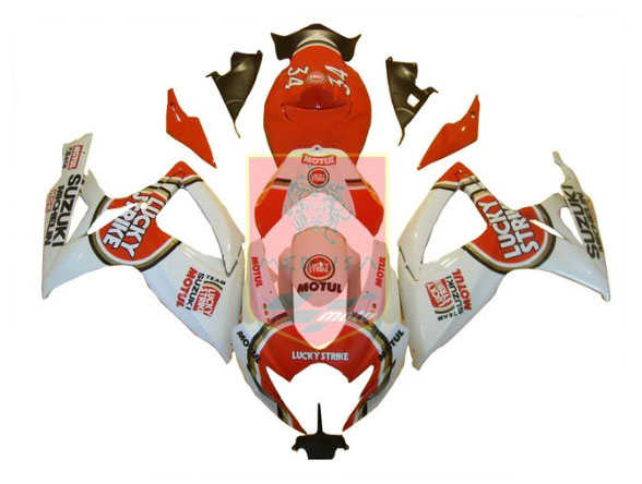 Lucky Strike ABS Fairing Set 23pc - Suzuki GSXR600/750 2006-2007