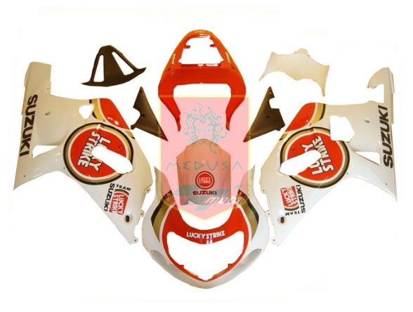 Lucky Strike ABS Fairing Set 9pc - Suzuki GSXR600/750 2001-2003
