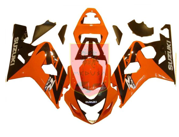 Red/Black ABS Fairing Set 10pc - Suzuki GSXR600/750 2004-2005