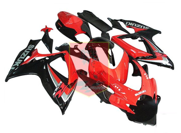 Red/Black ABS Fairing Set 23pc - Suzuki GSXR600/750 2006-2007